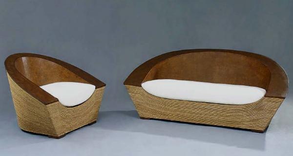 Papaya Lounge Chair & Loveset