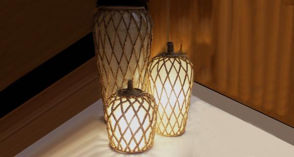 Solomon Hanging Lamp & Vase