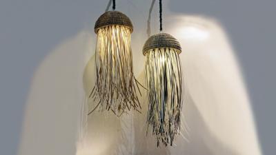 Jelly Fish Hanging Lamp
