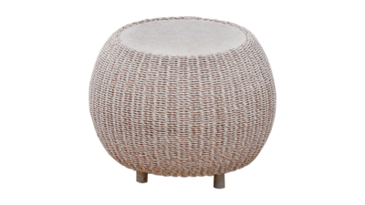 Bonbon Side Table With Mactan Stone Top