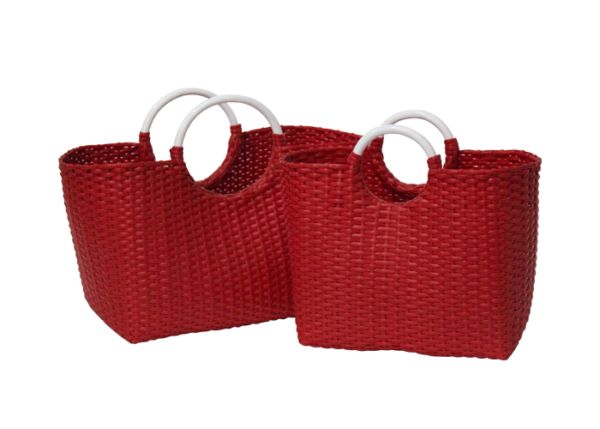 Hand Basket Red